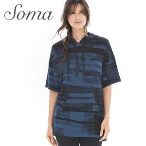 Soma French Terry Front Pocket Hooded Tunic Top